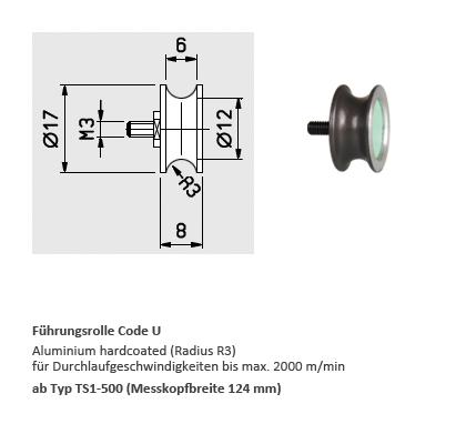 Zugspannungssensor TS1, stationär, elektronisch - Hans Schmidt