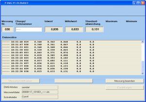 Software P-DMG für Dickenmesser