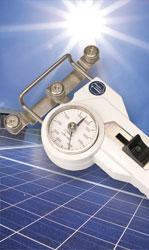 Zugspannungsmesser in der Solarindustrie