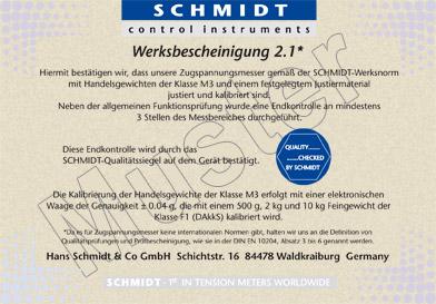 Werksbescheinigung 2.1 deutsch