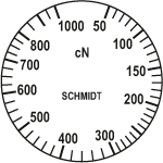Scale of tension meter DN1-1000