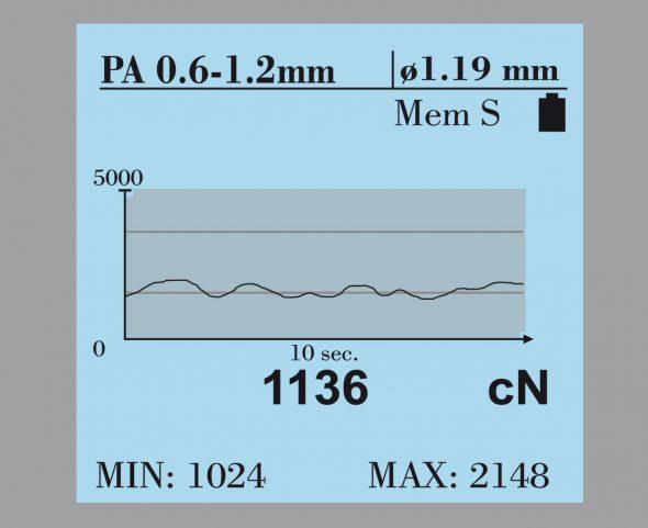 Grafisches Display Zugspannungsmesser Modellreihe DTS