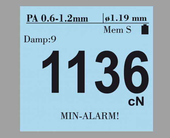 Numerisches Display Zugspannungsmesser Modellreihe DTS