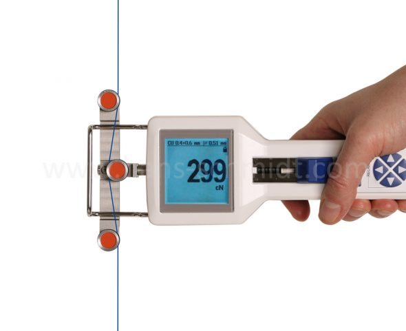 Tension Meter DTX with inserted material