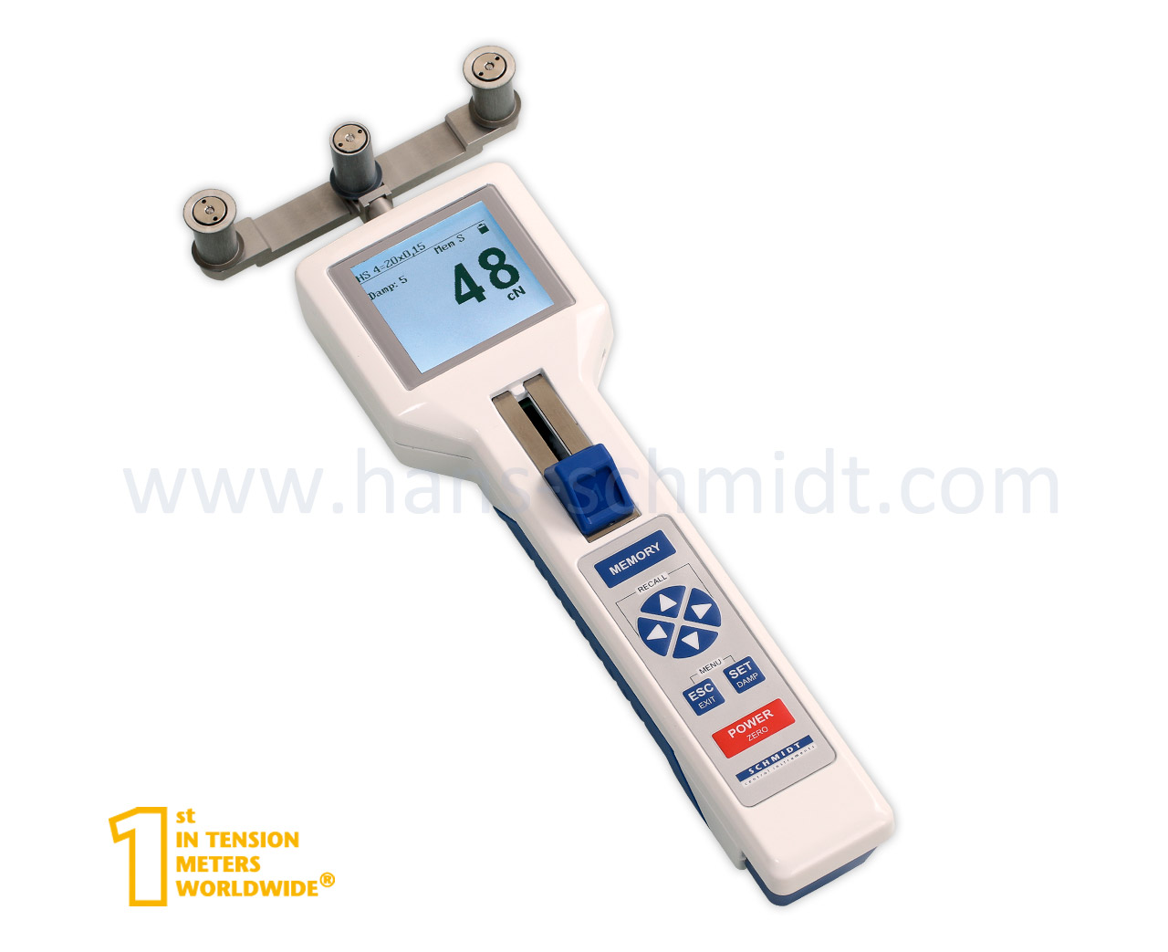 Tension Meter DTXB, hand-held electronic device - Hans Schmidt