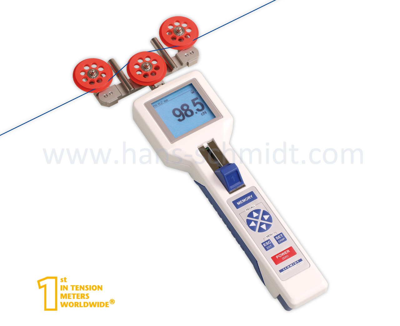Tension Meter DTXF, hand-held electronic device - Hans Schmidt