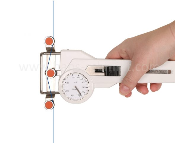 Tension Meter DX2 with inserted material