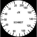 Skala des Zugspannungsmessers Typ DXF-200