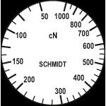 Skala des Zugspannungsmesser DXK-1000