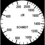 Skala des Zugspannungsmesser DXV-2000