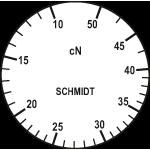 Skala des Zugspannungsmesser DXV-50