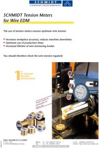 titel page of info sheet for wire EDM