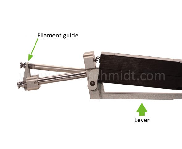 Tension meter ETX with filament guide