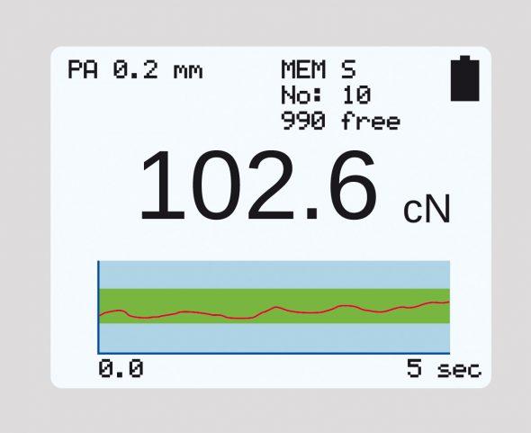 graphical display tension meter ET series