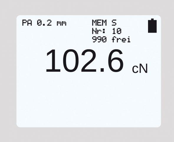 Numerisches Display Zugspannungsmesser Modellreihe ET