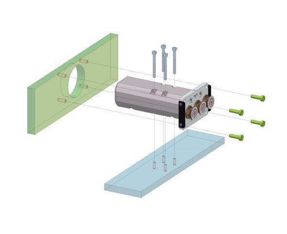 Befestigungsmöglichkeiten der Zugspannungssensoren Modellreihe FS