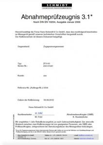 Kalibrierbericht für Zugspannungsmesser Modellreihe Z