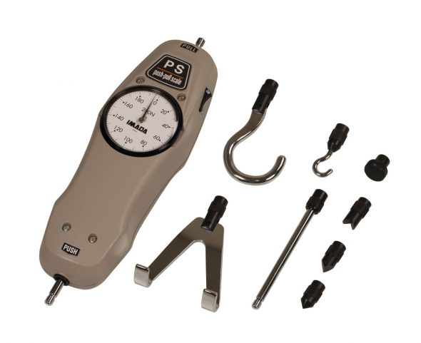 Force Gauge PS with standard accessories