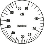 Skala Zugspannungsmesser Q-100
