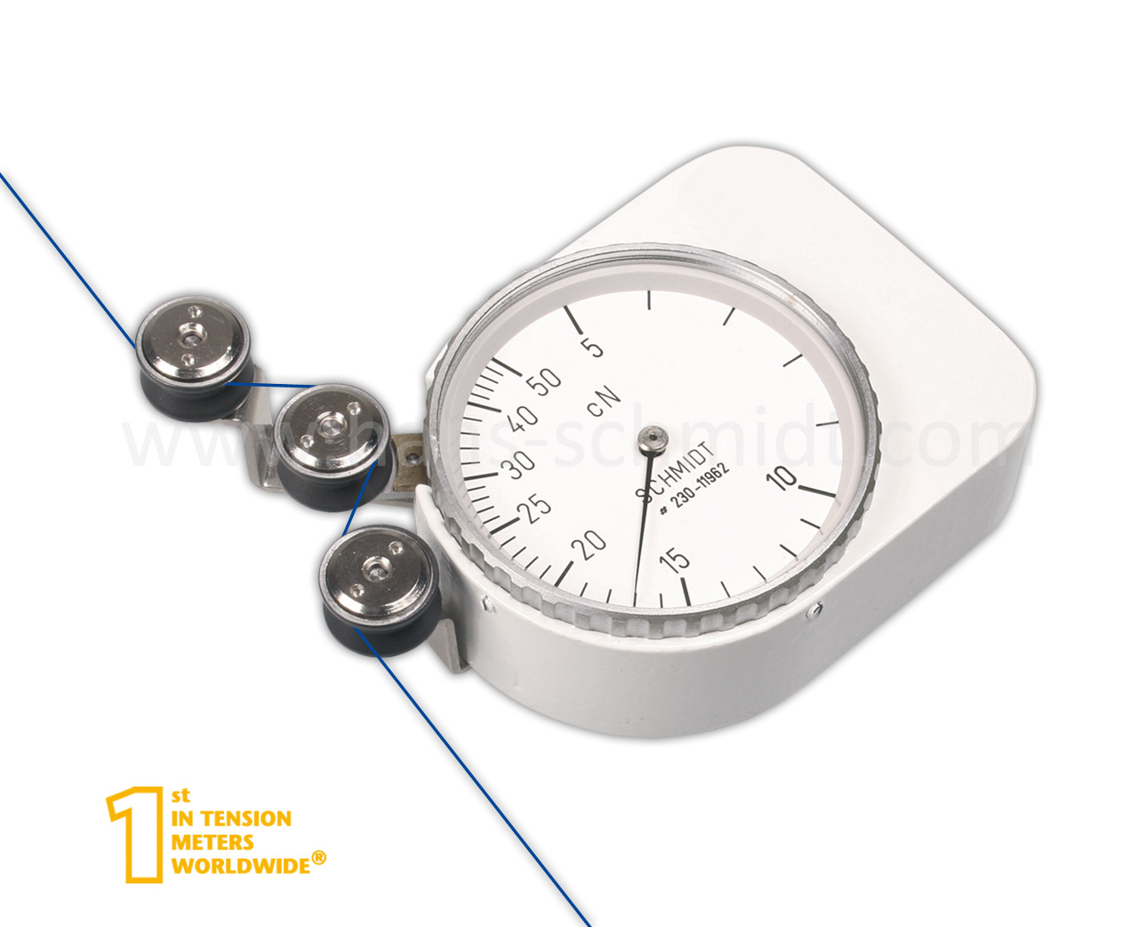 Zugspannungsmesser Q, stationär mechanisch - Hans Schmidt