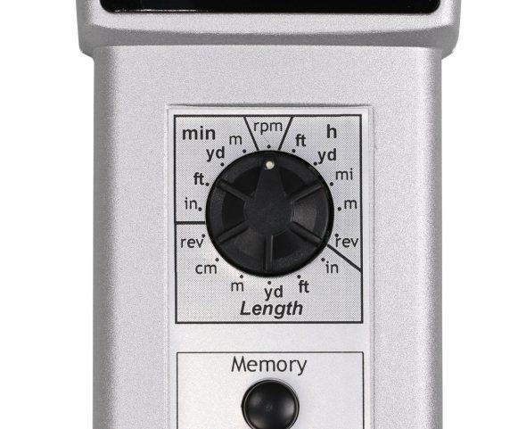Schalter am Tachometer zum einstellen der Maßeinheit