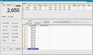Software Measuring Tool für Hand-Dickenmesser