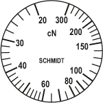 Scale of tension meter ZD2-300