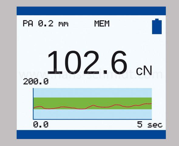 Grafisches Display Zugpannungsmesser Modellreihe ZE