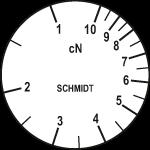 Skala des Zugspannungsmessers ZF2-10