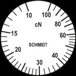 Skala des Zugspannungsmessers ZF2-100