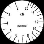 Skala des Zugspannungsmessers ZF2-20
