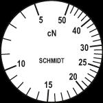 Skala des Zugspannungsmessers ZF2-50